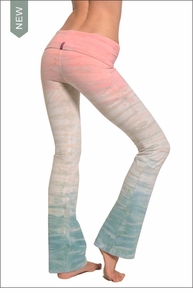 Hardtail Roll Down Boot Leg Pants (Seaside Sunrise Tie-Dye)