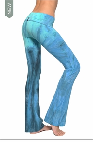 Hardtail Roll Down Boot Leg Pants (Trevi Fountain Tie-Dye)