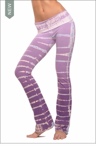 Hardtail Roll Down Boot Leg Pants (Violet Lizard Tie-Dye)