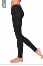 Hardtail Roll Down Cargo Ankle Leggings (Black)