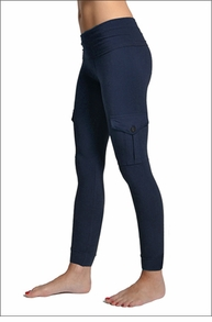 Hardtail Roll Down Cargo Ankle Leggings (Past Midnight)
