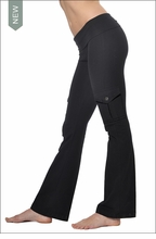 Hardtail Roll Down Cargo Boot Leg Pants (Black)