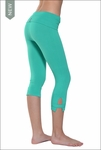 Hardtail Roll Down Cropped Side Slinger Capri (Mermaid)