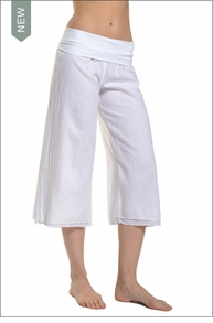 Hardtail Roll Down Double Layer Skipper Pant (White)