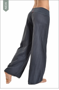 Hardtail Roll Down Double Layer Voile Pants (Onyx)
