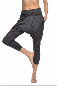 Hardtail Roll Down Extra Slouchy Pant (Charcoal)
