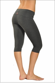 Hardtail Roll Down Knee Legging Dark Charcoal