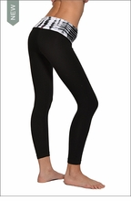 Hardtail Roll Down Layered Legging (Alligator Skin & Black)