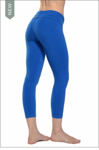 Hardtail Roll Down Layered Legging (Angel Blue)