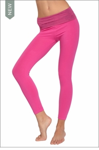 Hardtail Roll Down Layered Legging (Ashy Pink & Punch Pink)
