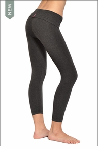 Hardtail : Roll Down Layered Legging (Dark Charcoal)