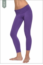 Hardtail : Roll Down Layered Legging (Iris)