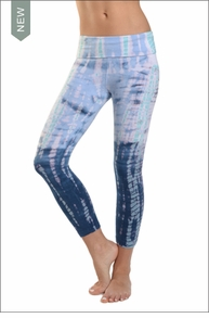 Hardtail Roll Down Layered Legging (Pastel Lizard Tie-Dye)