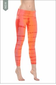 Hardtail Roll Down Layor Legging (Mango tie-dye)