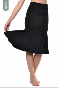 Hardtail Scrunch Waist Skirt (SL-33, Black)
