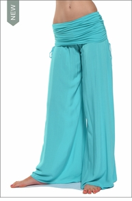 Hardtail Side Ruched Boho Pant (Mermaid)