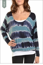 Hardtail Slouchy Dolman (Electric Current Tie-Dye)