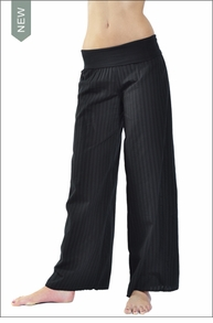 Hardtail Squiggle Roll Down Voile Pant (Black)