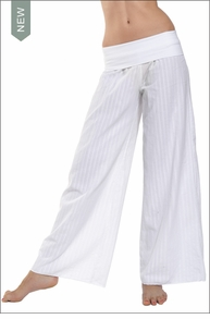 Hardtail Squiggle Roll Down Voile Pant (White)