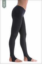 Hardtail Stirrup Flat Waist Ankle Legging (W-619, Black)