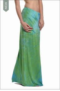 Hardtail Straight Maxi Skirt (Amazon River tie dye)