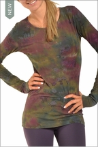 Hardtail Supima / Lycra Long Sleeve Scoop Tee (Paintball Tie-Dye)