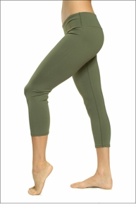 Hardtail Supplex Flat Waist Capri (Army)