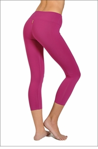 Hardtail Supplex Flat Waist Capri (Berry)