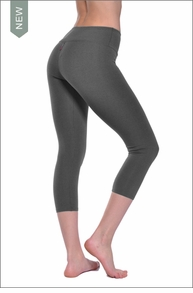 Hardtail Supplex Flat Waist Capri (Charcoal)