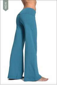 Hardtail Wide Leg Roll Down Pants (Pond)