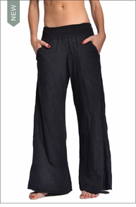 Hardtail Roll Down Voile Gypsy Pants (Dark Blue Mineral Wash)
