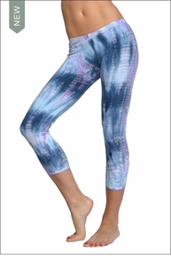Hardtail Low Rise Layered Legging (Pastel Lizard Tie-Dye)