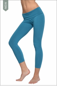 Hardtail Roll Down Layered Legging (Pond)