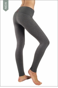Hardtail Contour Roll Down Ankle Legging (Charcoal)