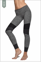 Hardtail Brushed Heather Roll Down Jogger Legging