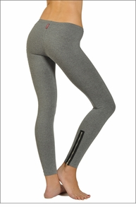 Hardtail Low Rise Rocker Zip Ankle Legging (Charcoal)