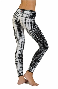 Hardtail Low Rise Ankle Leggings (Black & White Alligator Skin)