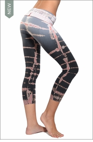 Hardtail Tie-Dye Roll Down Layered Legging (Celestial Lizard Tie-Dye)