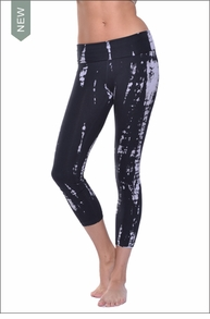 Hardtail Tie-Dye Roll Down Layered Legging (Rocker Lizard Tie-Dye)