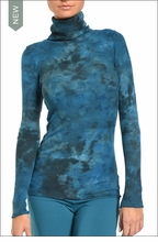Hardtail Tie-Dye Thermal Turtleneck (Wishing Well Tye-Dye)