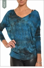 Hardtail Twinkle Stripe Dolman (Wishing Well Tie-Dye)