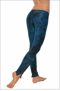 Hardtail Vertical Stripe Ankle Zip Leggings (Wishing Well Tie-Dye)