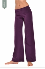 Hardtail Wide Leg Roll Down Pants (Concord Grape)