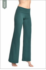 Hardtail Wide Leg Roll Down Pants (Ivy)