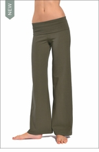 Hardtail Wide Leg Roll Down Pants (Olive)
