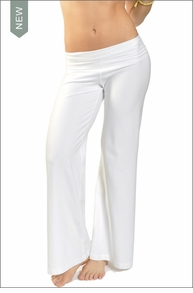Hardtail Wide Leg Roll Down Pants (White)