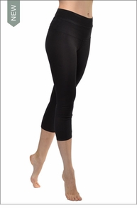High Rise Capri Legging (Black) by Hardtail