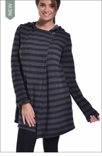 Hooded Stripe Cardigan  by Hardtail