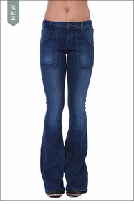 Julia Mid Rise Skinny w/Cargo Pocket (Eventide) by Black Orchid