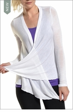 Knit Wrap Cardigan (White) by Hard Tail Forever